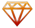 Fiery Orange Diamond Icon100