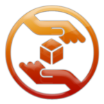 Fiery Orange Hands Icon