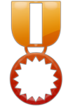 Fiery Orange Medal Icon3